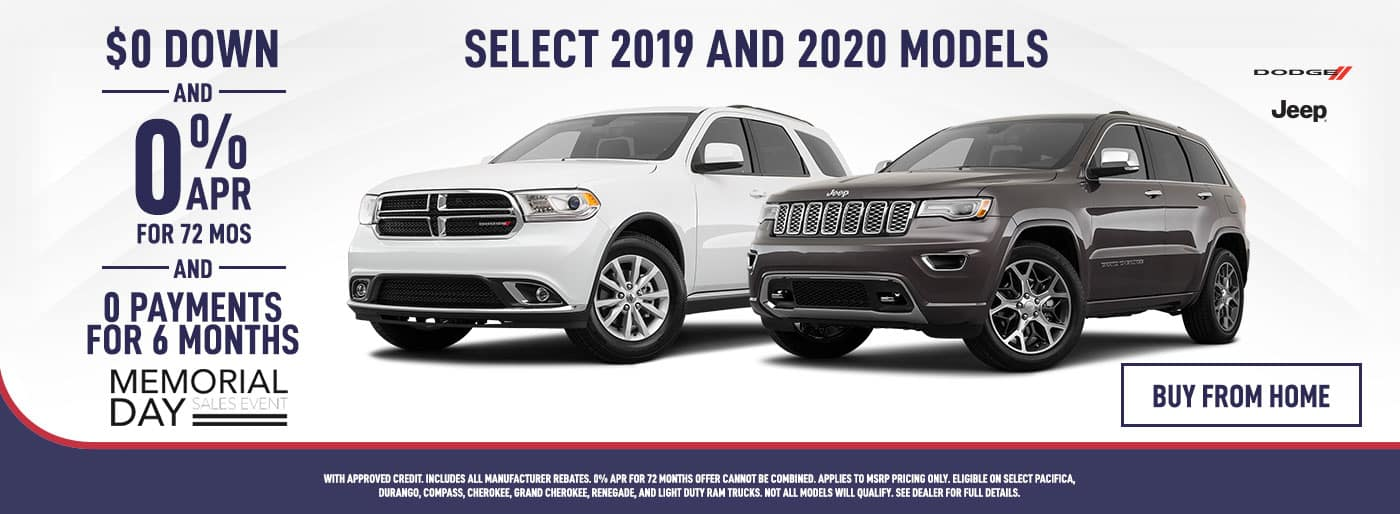 Dodge & Jeep 0$ Down and 0% APR for 72 Months