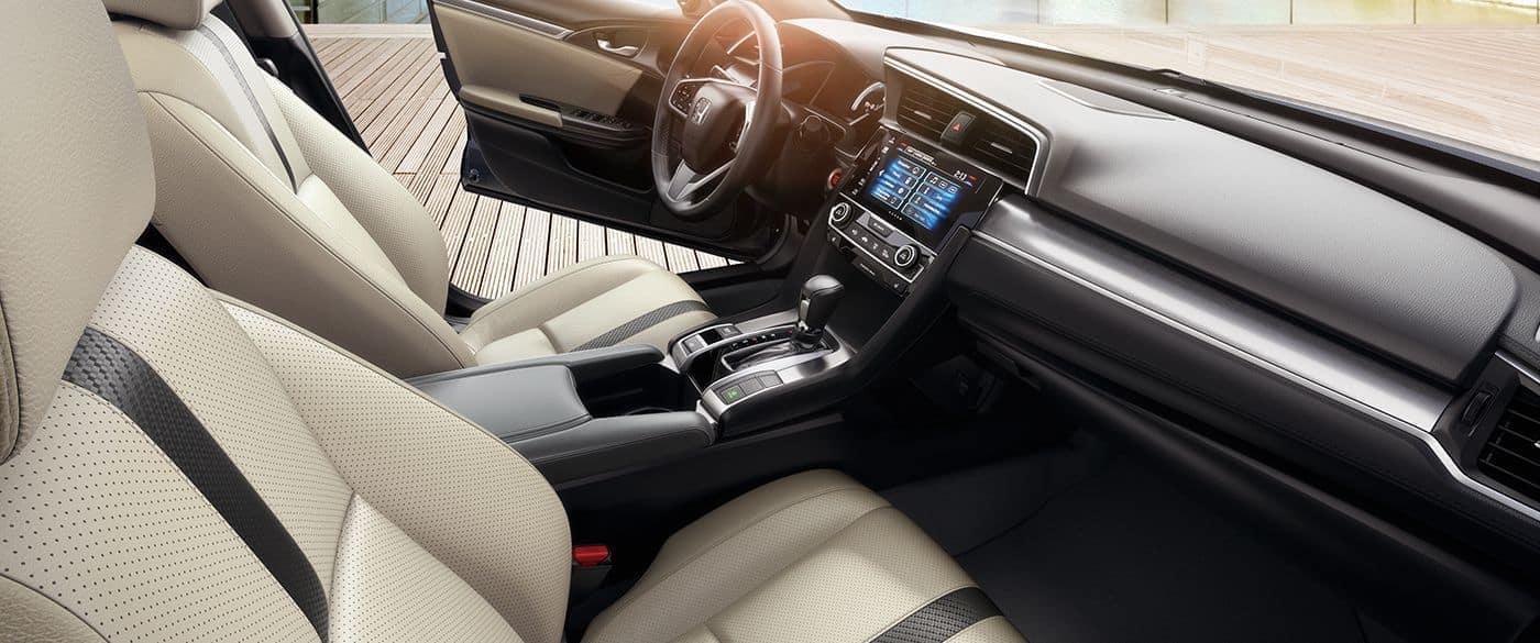 2018 civic sedan ex touring int beige front passenger