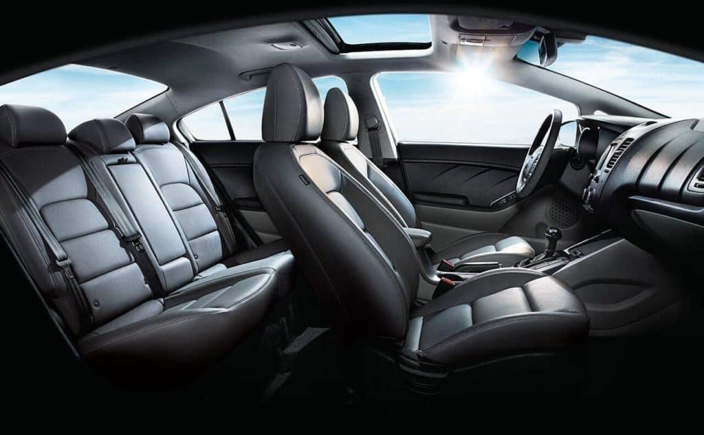 2018 Kia Forte Interior Black leather Seats