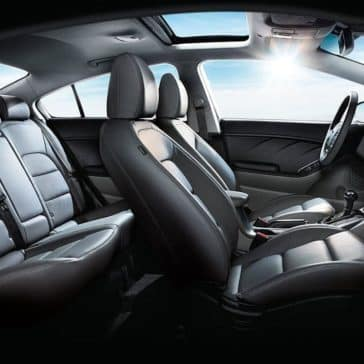 2018 Kia Forte Interior Black leather Seats