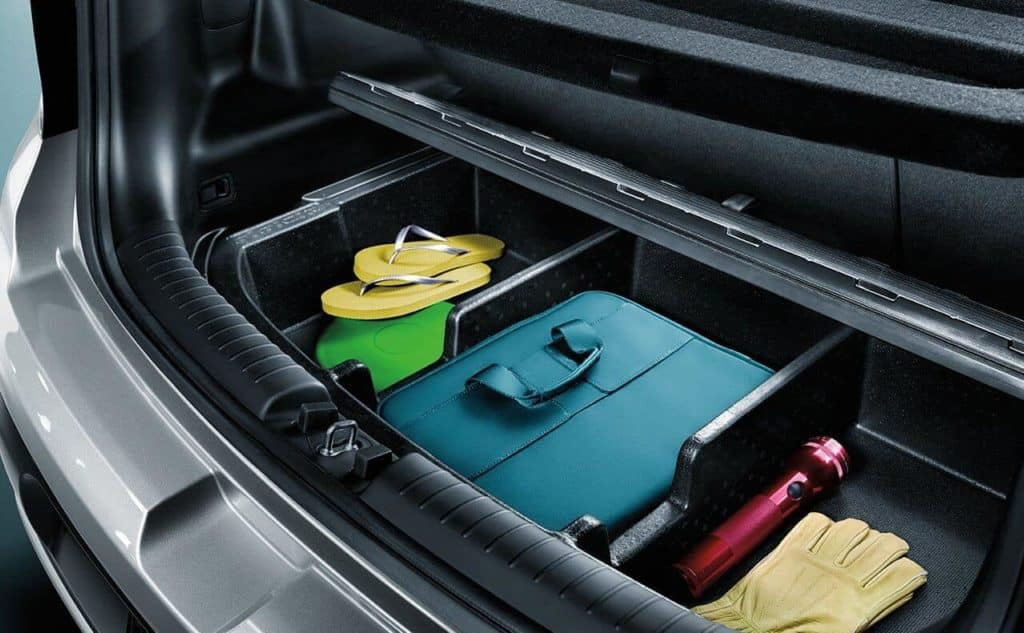 2018 Kia hidden storage