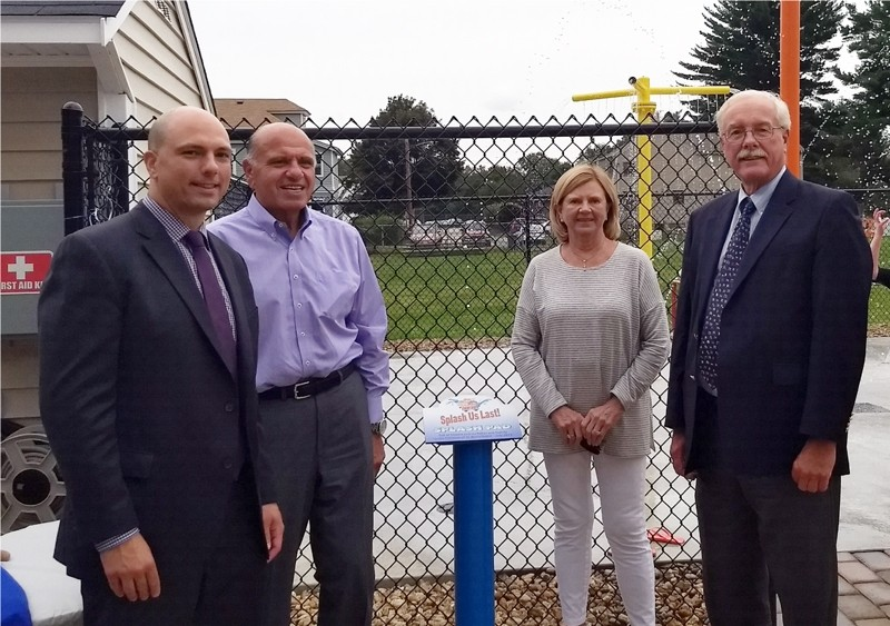 Charles Daher, Jr., Charlie and Liz Daher of Commonwealth Motors  and Denis Grandbois, President & CEO of St. Ann's Home & School