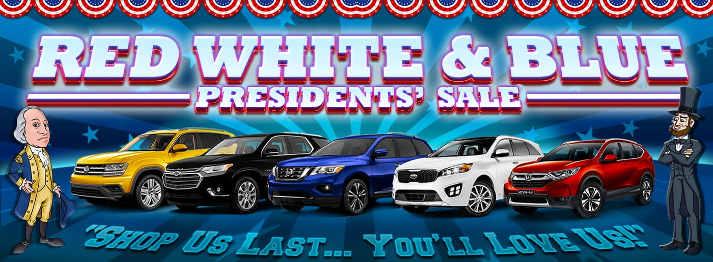 Red, White & Blue Presidents' Sale Banner