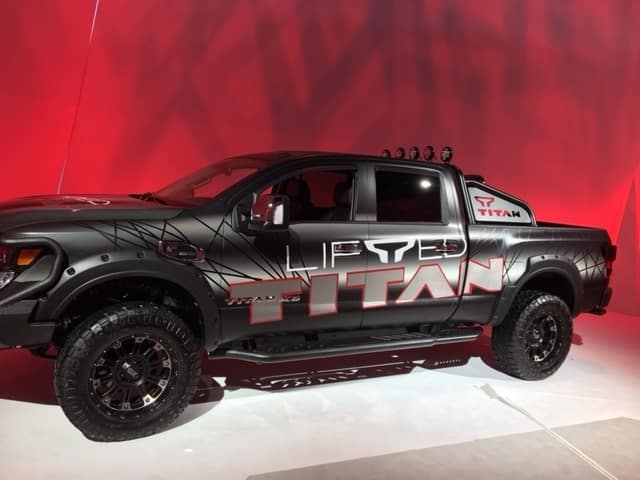 Black Nissan Titan with Lift Kit Installed