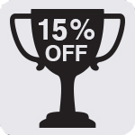 15% Off Icon