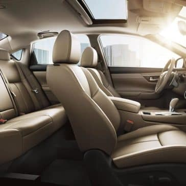 2018 nissan altima sedan interior seating beige leather