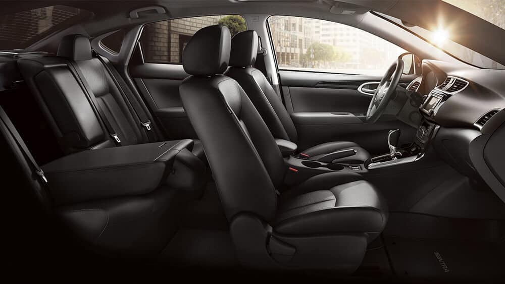 nissan sentra folded rear seat