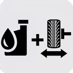 Oil Change and Tire Rotation Icon