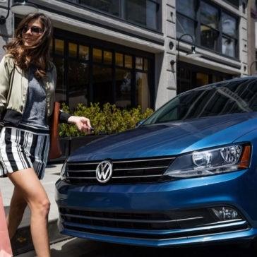 2017 Volkswagen Jetta Front with Pedestrian