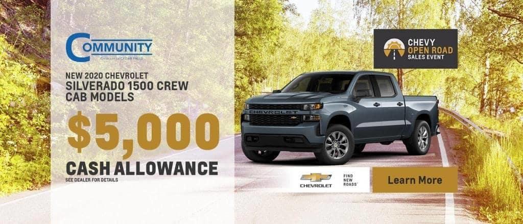 New 2020 Chevrolet Silverado 1500 Crew Cab Models