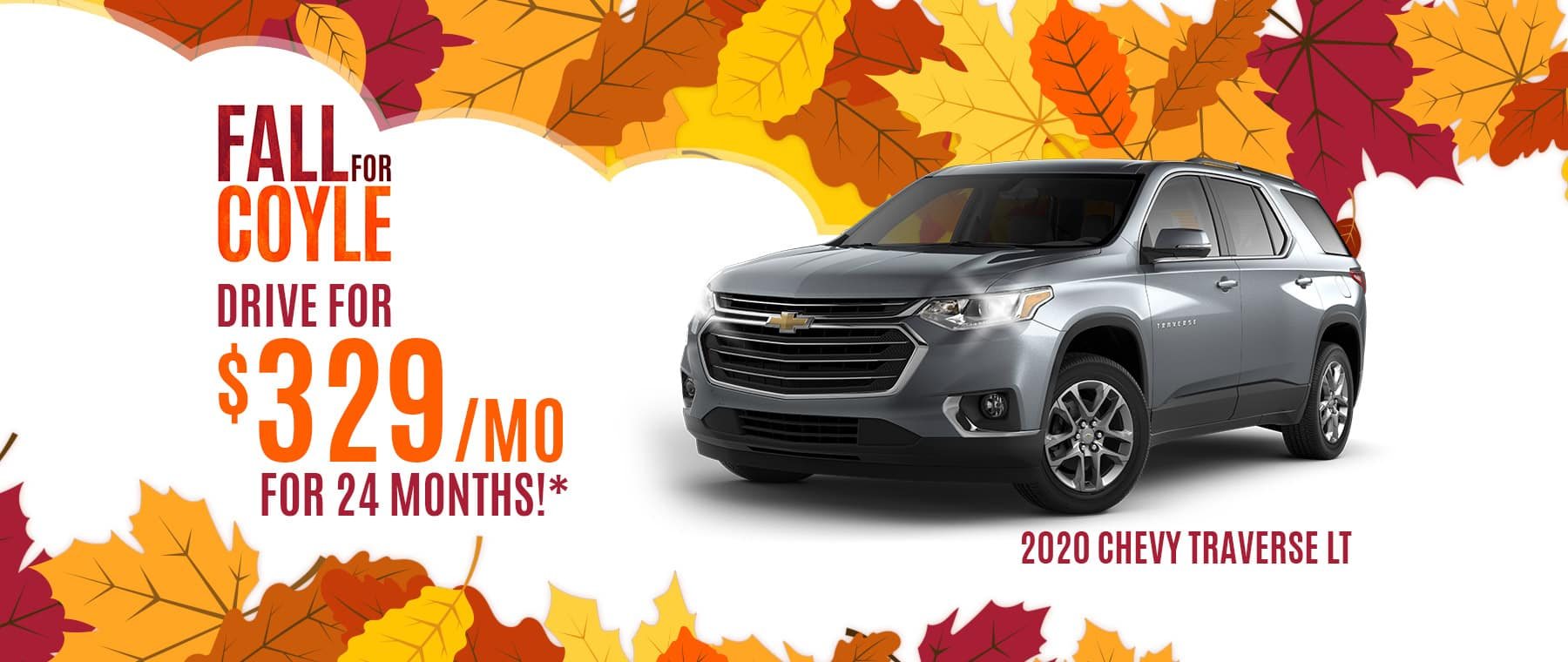 Lease a new 2020 Chevrolet Traverse near Watson, Indiana