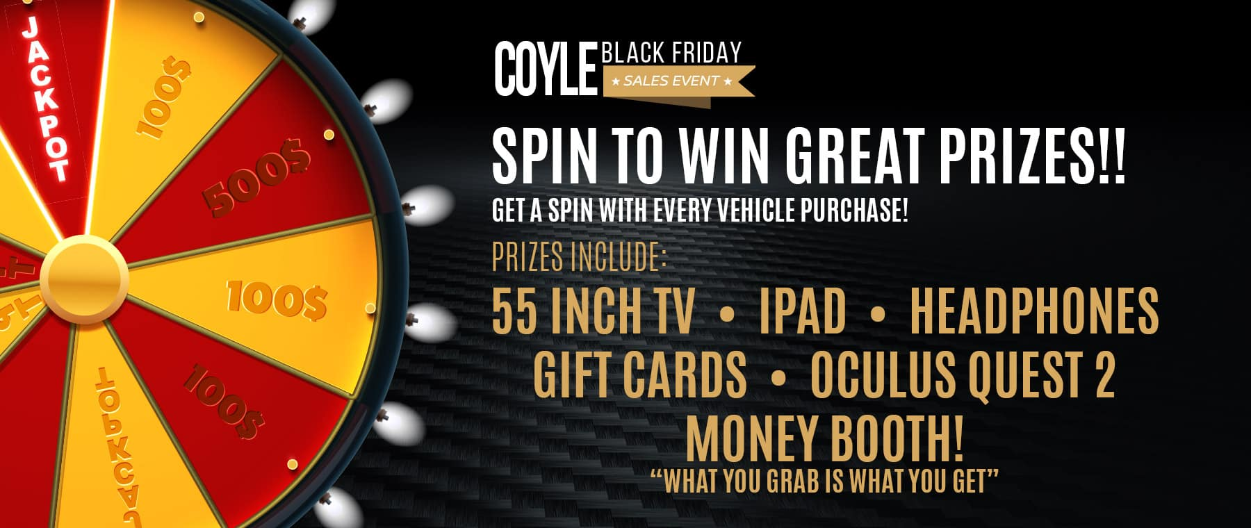 Spin the Prize Wheel at Coyle this Black Friday