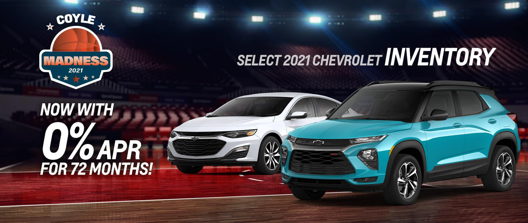 APR offer on NEW 2021 Chevrolet inventory near Clarksville IN