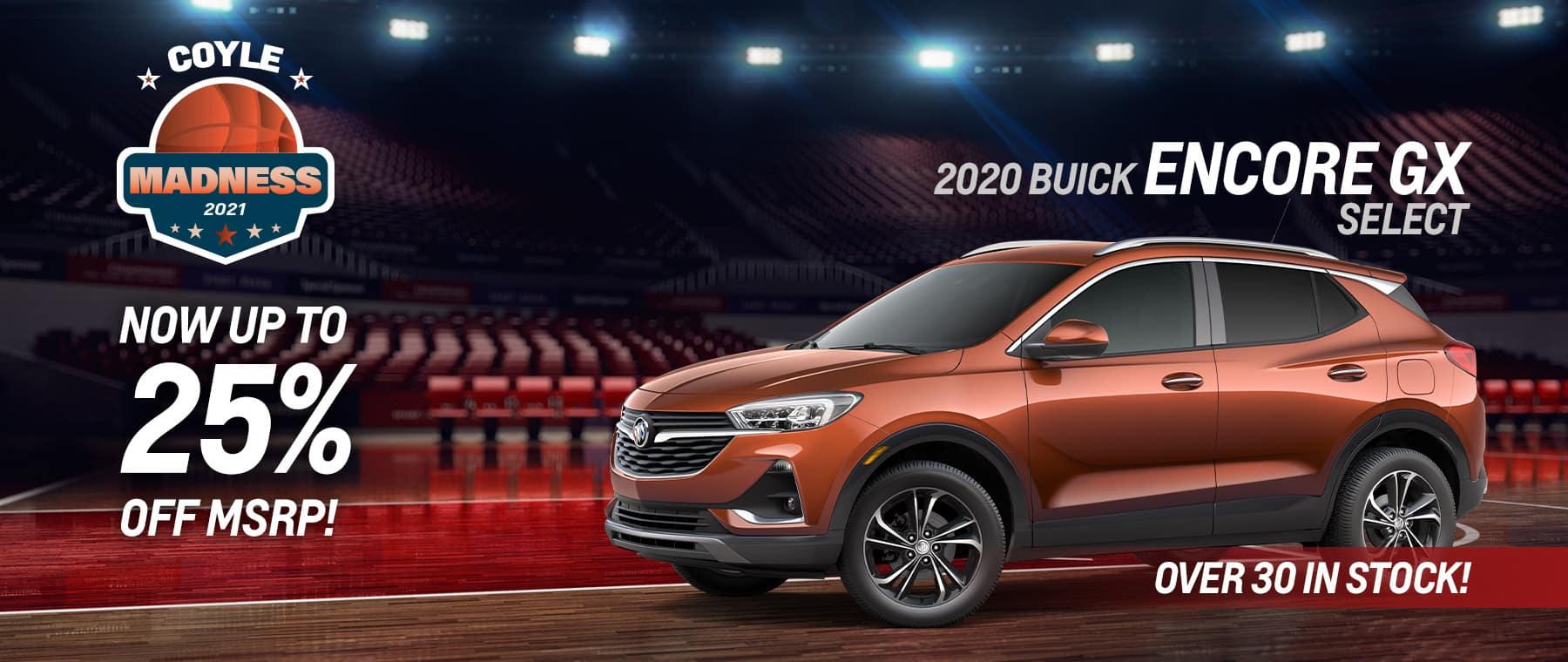 Best rebate offer on a new 2020 Encore GX near Clarksville IN