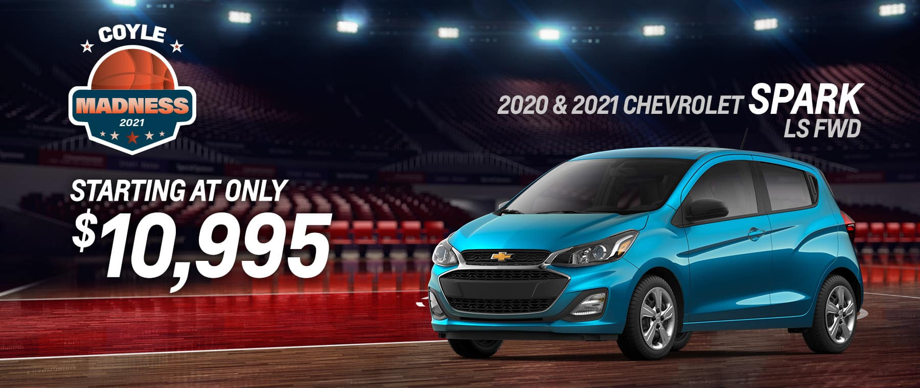 Special price on a new 2020 or 2021 Chevrolet Spark