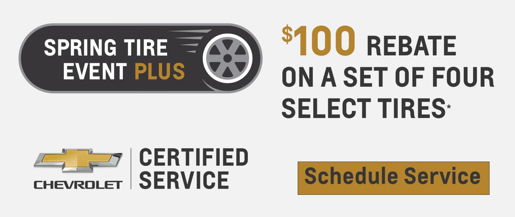 $100 Rebate on select tires.