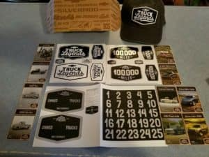 Chevy Truck Legends Merchandise on a table
