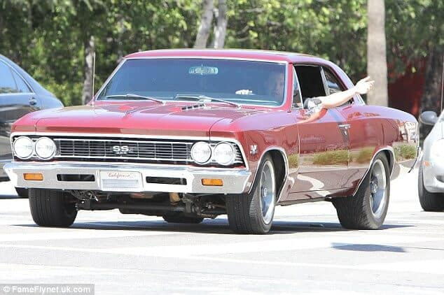 Ben Affleck in his Chevelle SS