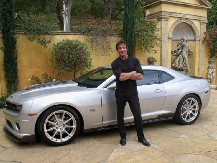 Sylvester Stallone with his Camaro