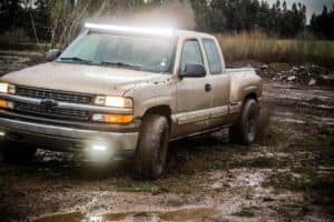 Silverado in the mud