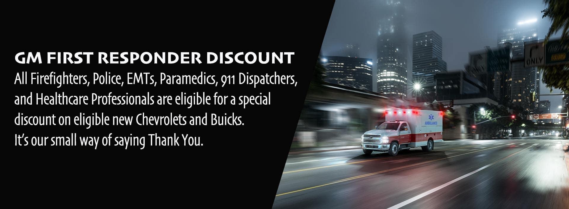 GM First Responder Discount