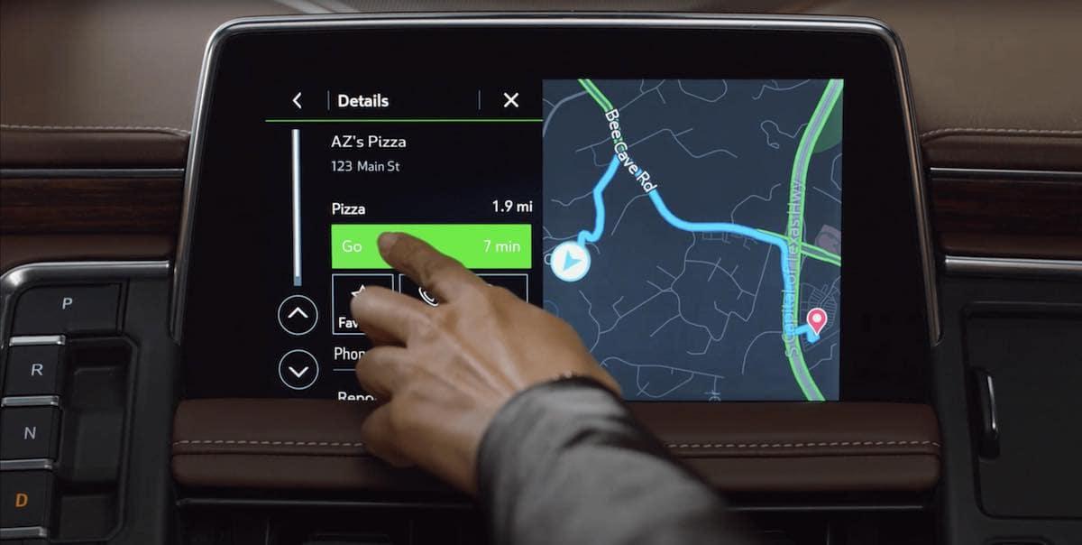 2021 Chevrolet Tahoe Rear Navigation Features