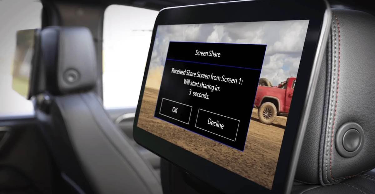 2021 Chevrolet Tahoe Screen Share Feature