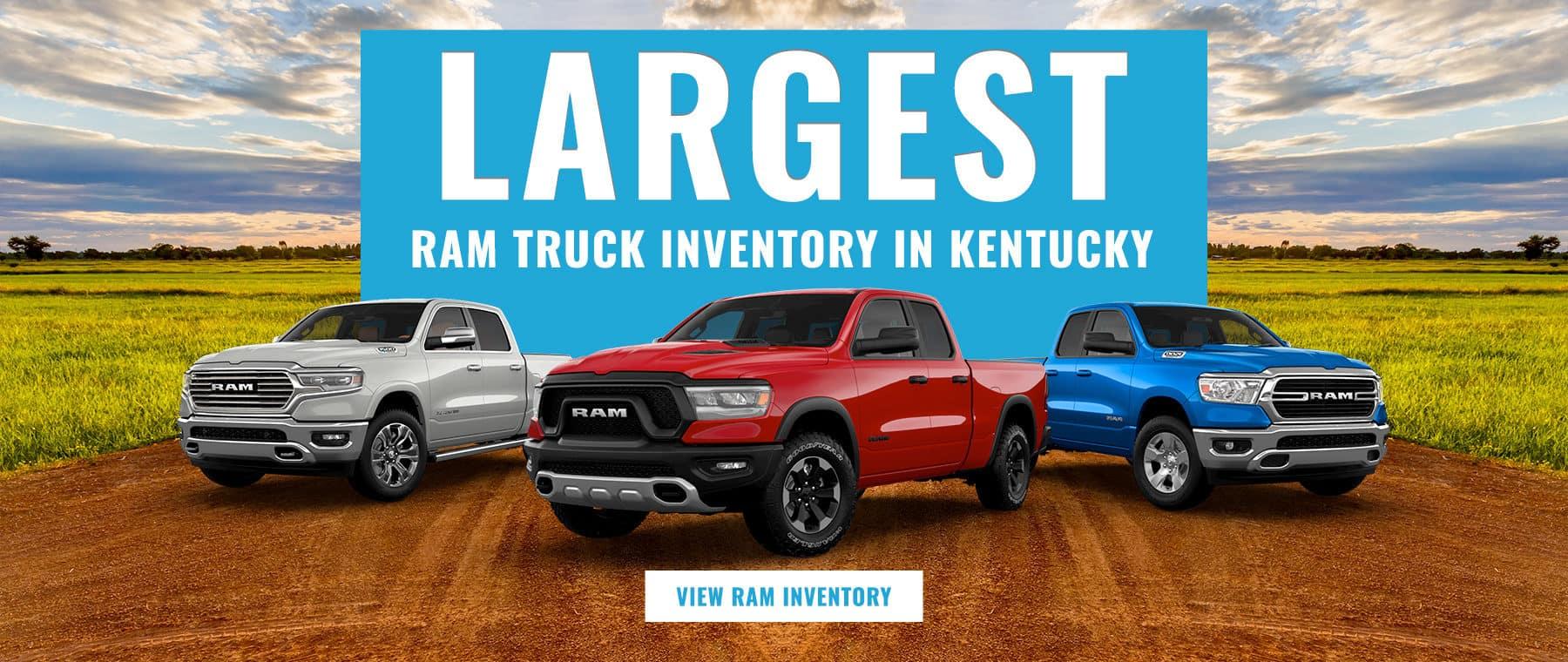 Largest Ram Truck Inventory in Kentucky