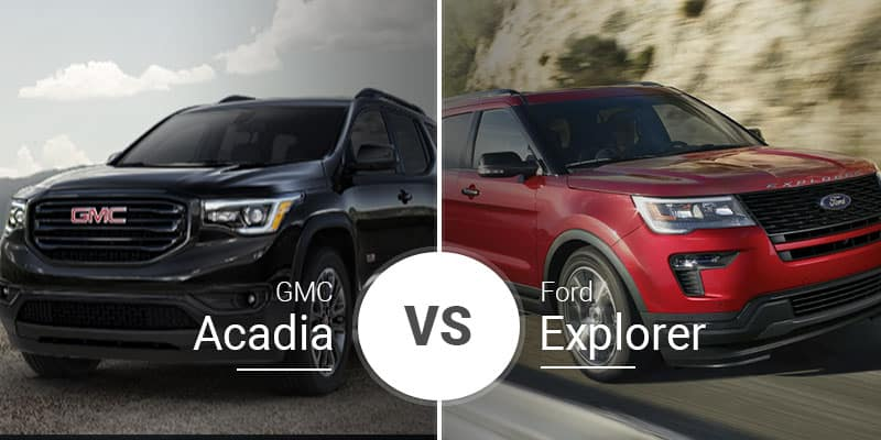 GMC Acadia Vs  Ford Explorer: Three Rows and Ready to Haul