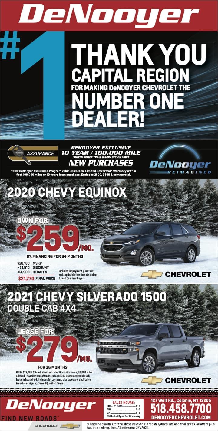 NewsPaperAd-DeNooyer Chevrolet NY