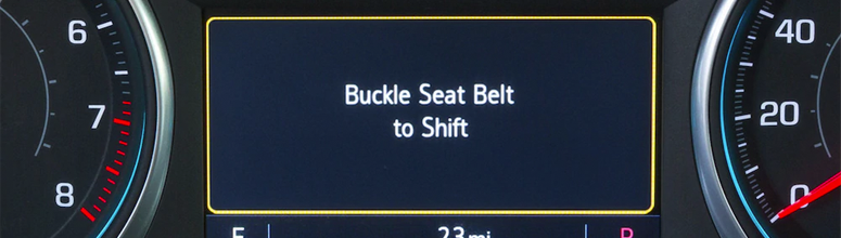 A helpful reminder to buckle up