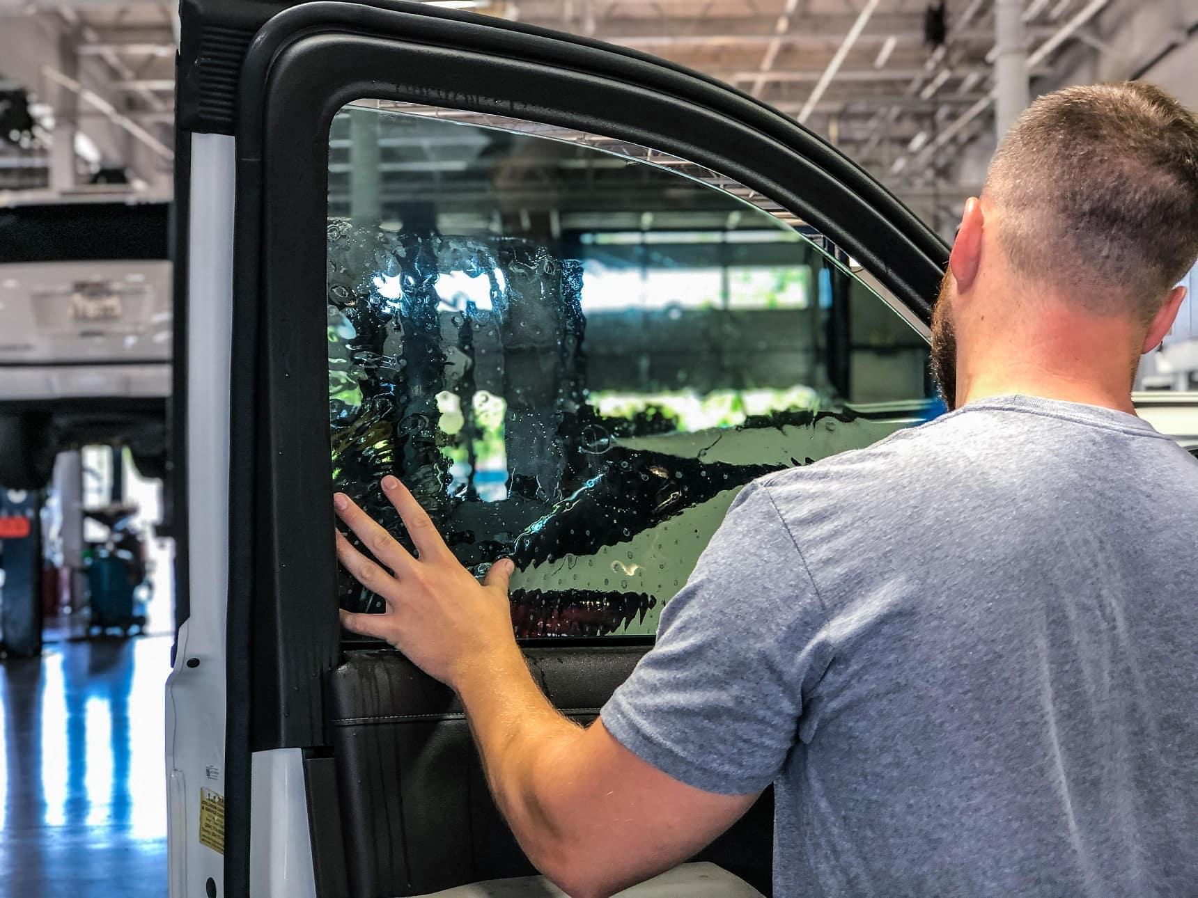 Silverado-Window-Install