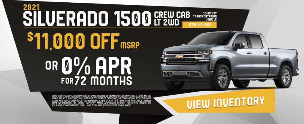 New 2021 Chevrolet Silverado Sale