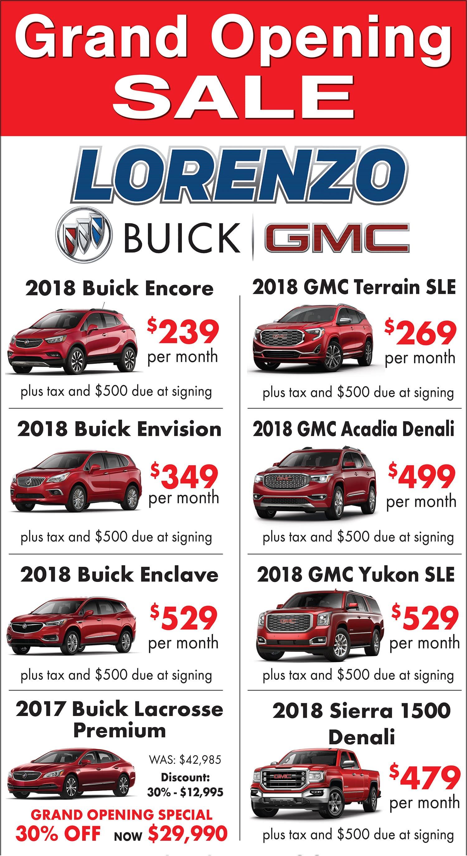 Lorenzo Buick GMC Specials Miami