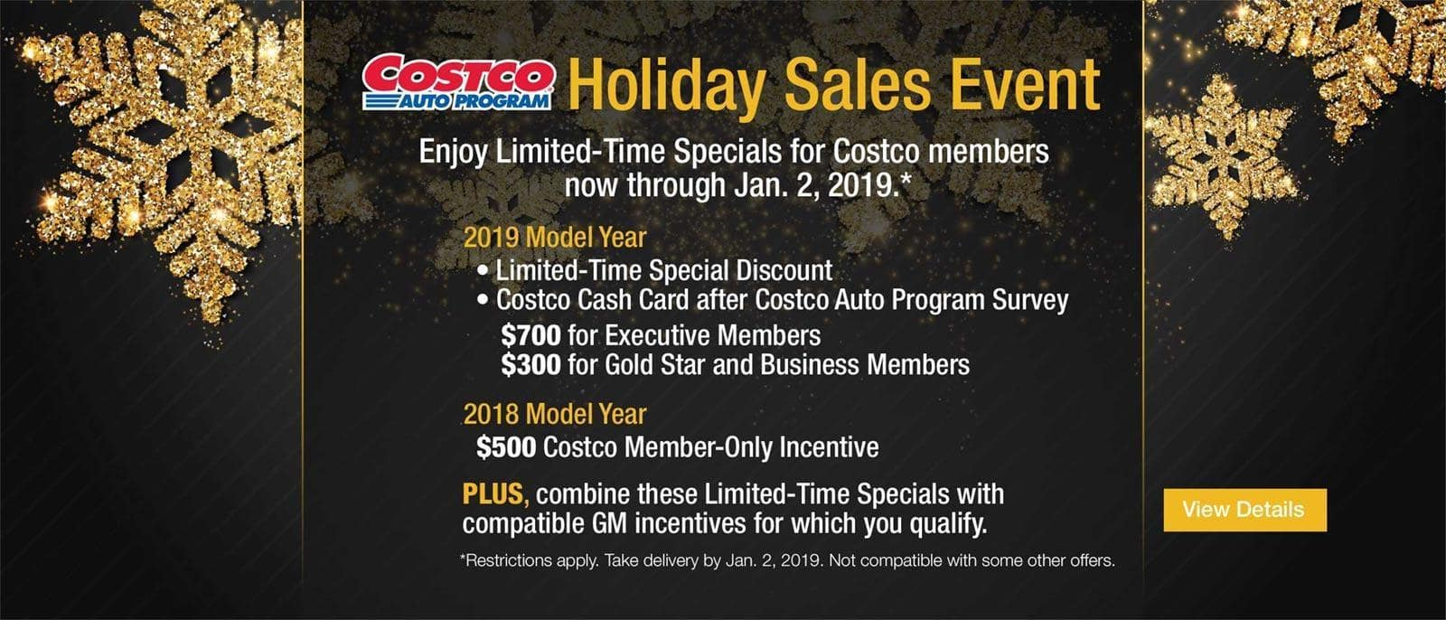 Costco GMC Holiday Sales Event