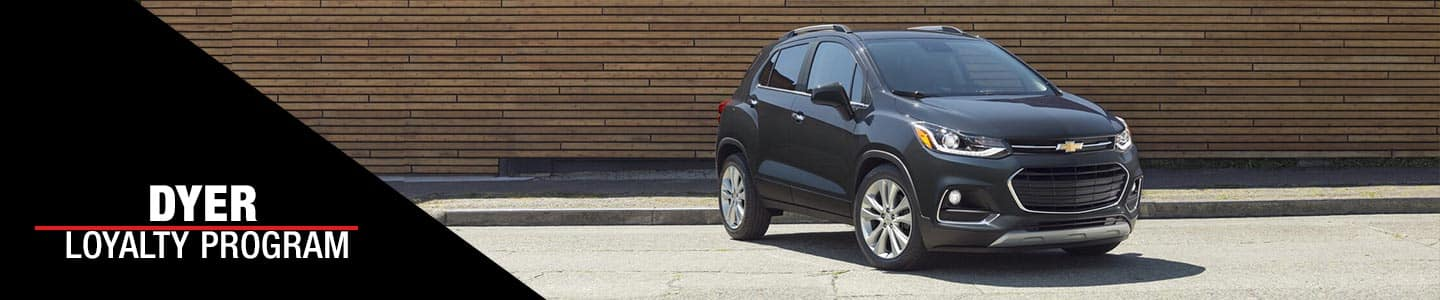 Dyer Loyalty program available at Dyer Chevy- Gray 2021 Chevy Trax