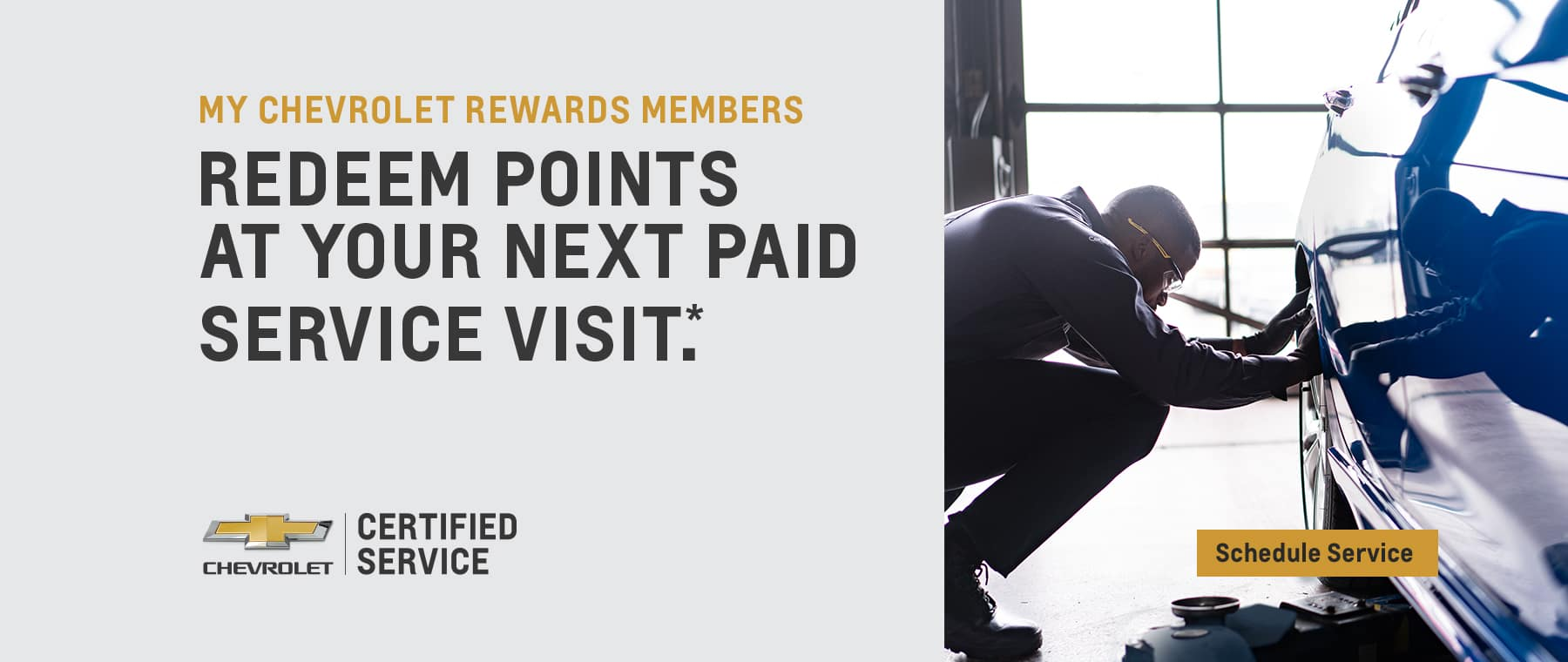 Redeem Points at your next paid service visit