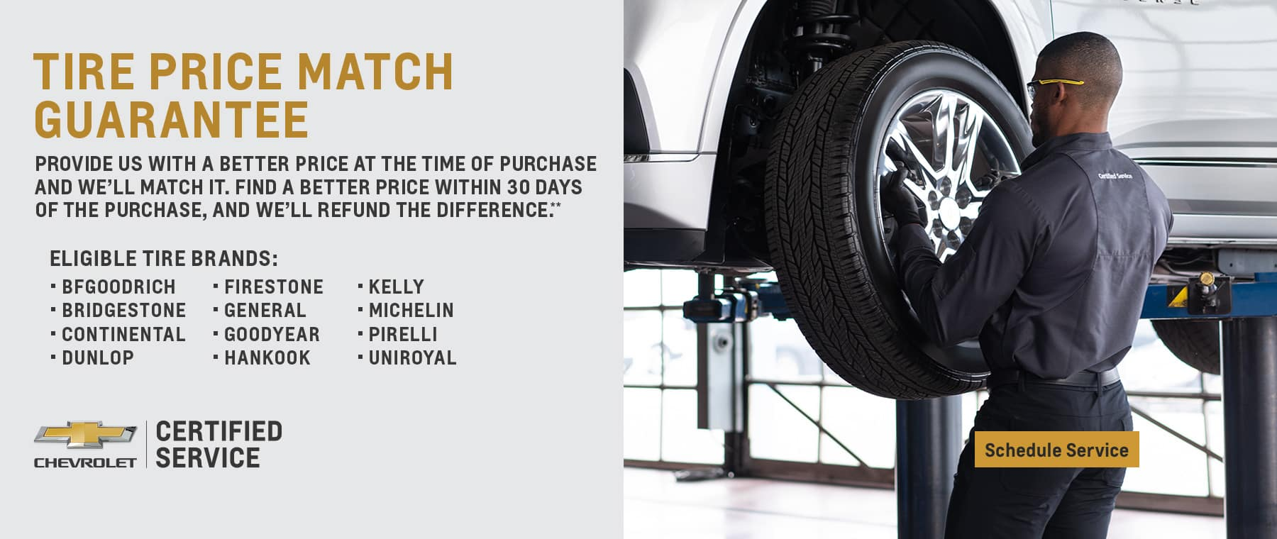 Tire Price Matching Guarantee