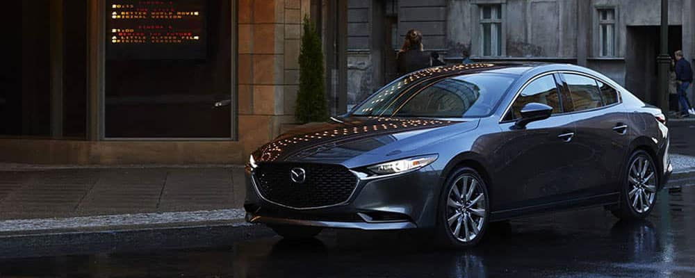 2019 mazda3 sedan parked in city