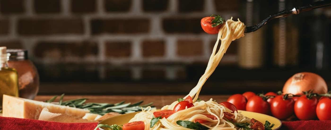 pasta at restaurant