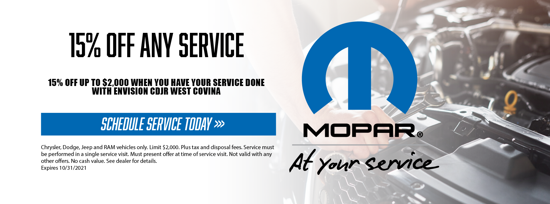 15 off any service