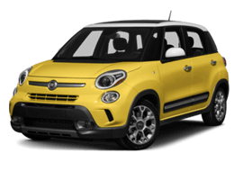 Yellow FIAT 500L Trekking