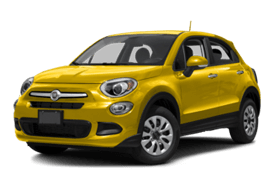 Yellow FIAT 500X Trekking