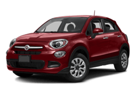 Red FIAT 500X Trekking Plus