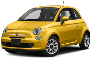Side View of Yellow FIAT 500