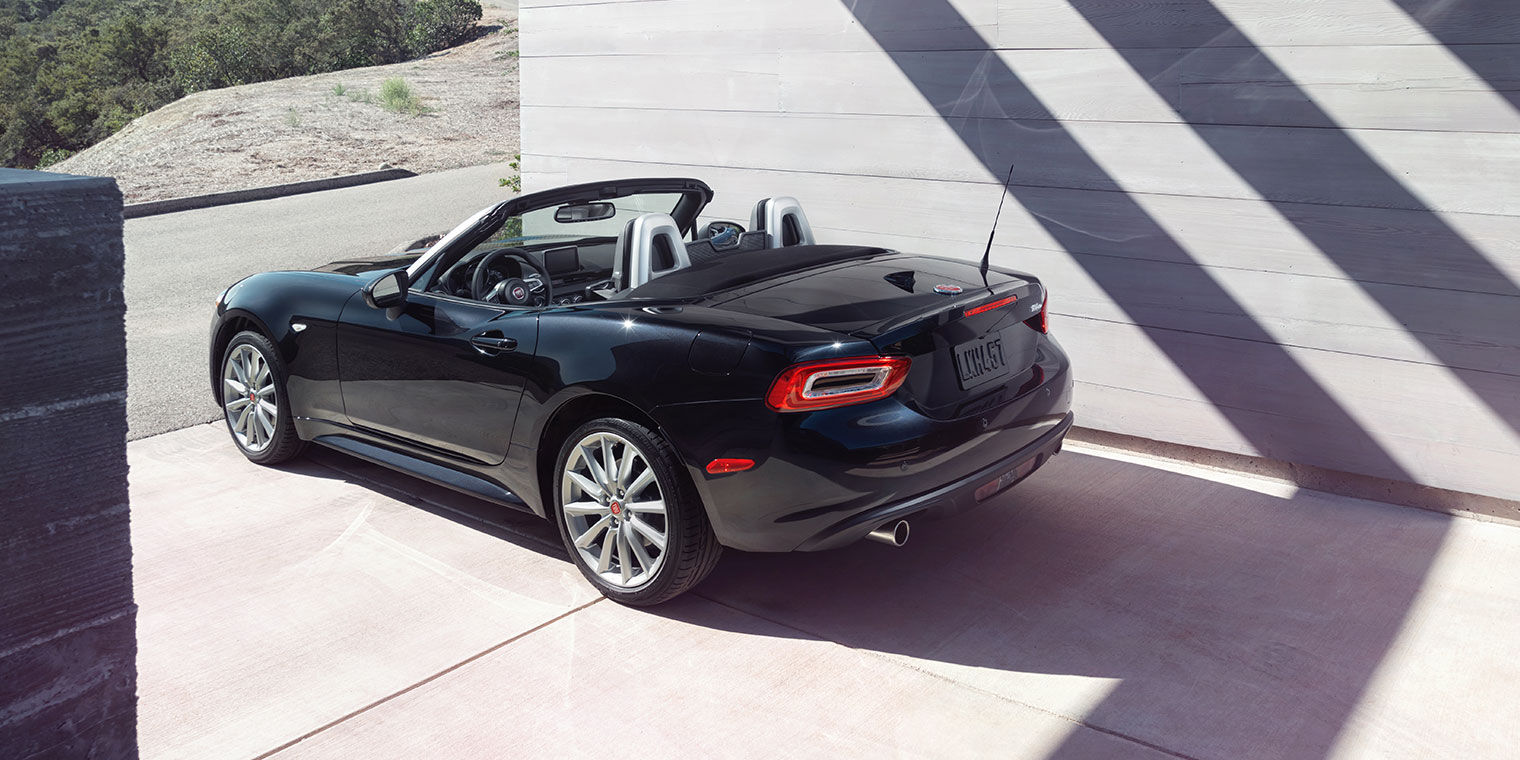 Side View of Black FIAT Spider