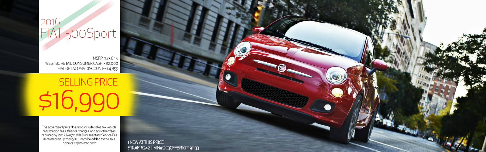 2016 FIAT 500 on sale at FIAT of Tacoma, WA