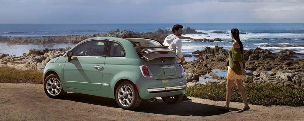Fiat by seaside