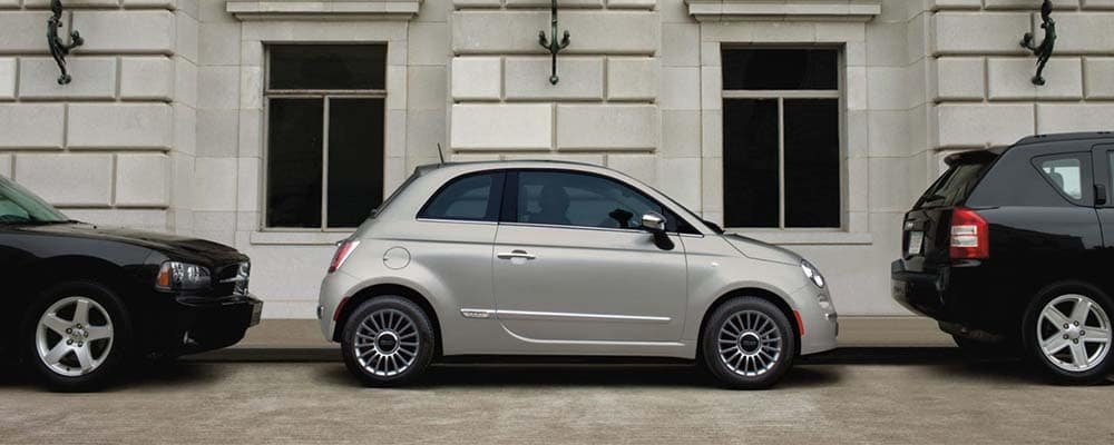 Fiat 500 on street