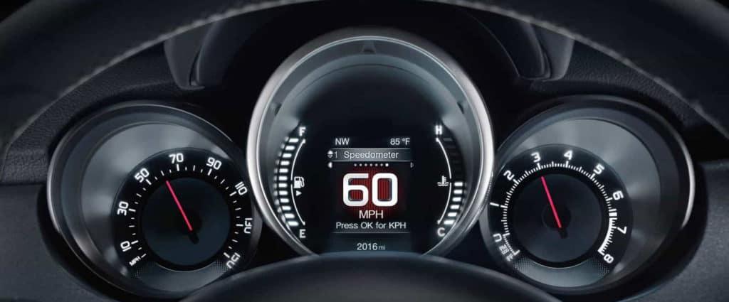 2018 Fiat 500x instrument panel